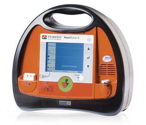 PRIMEDIC HeartSave AED 6S defibrillátor (Pulzoximéterrel)
