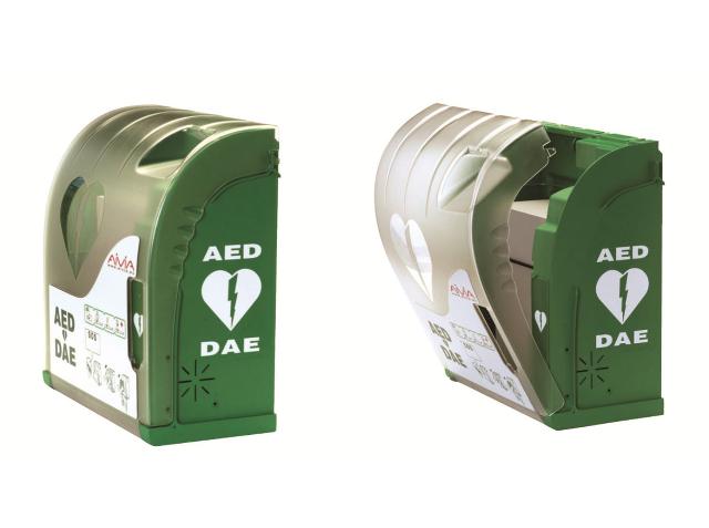 AIVIA 100 defibrillátor szekrény (Beltéri riasztós fali)