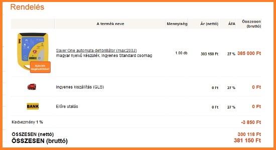 Rendelés ellenőrzése - www.defibrillatorok.hu